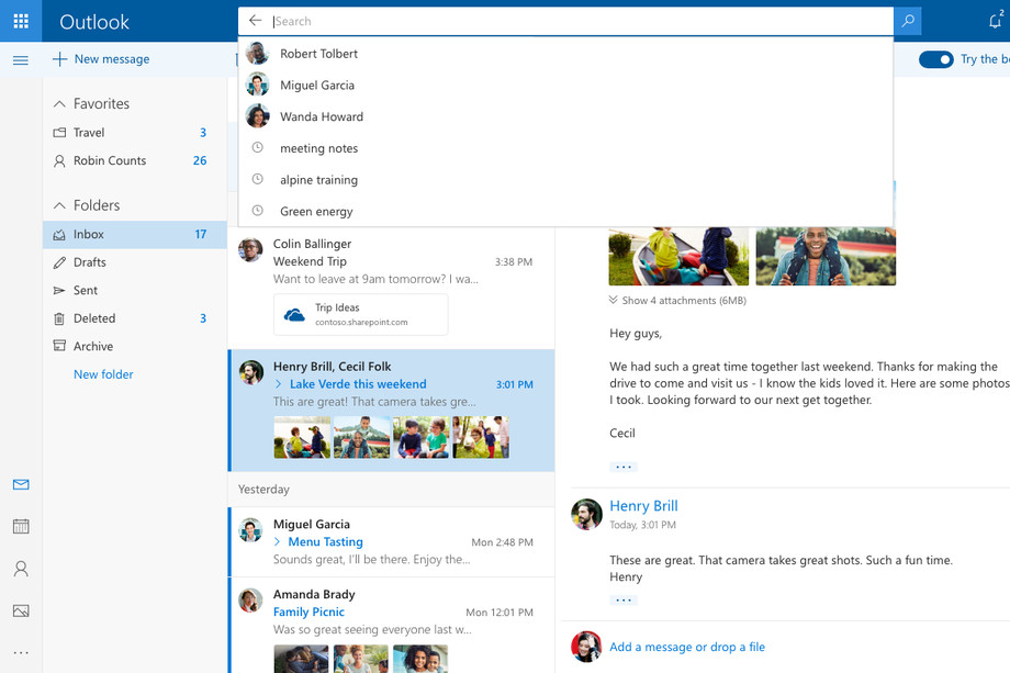 Microsoft открывает обновленный дизайн Outlook.com для всех пользователей