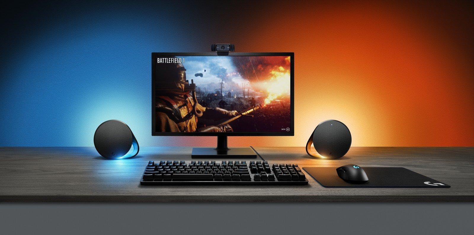 Игровые колонки и клавиатура Logitech меняют подсветку синхронно с картинкой на мониторе