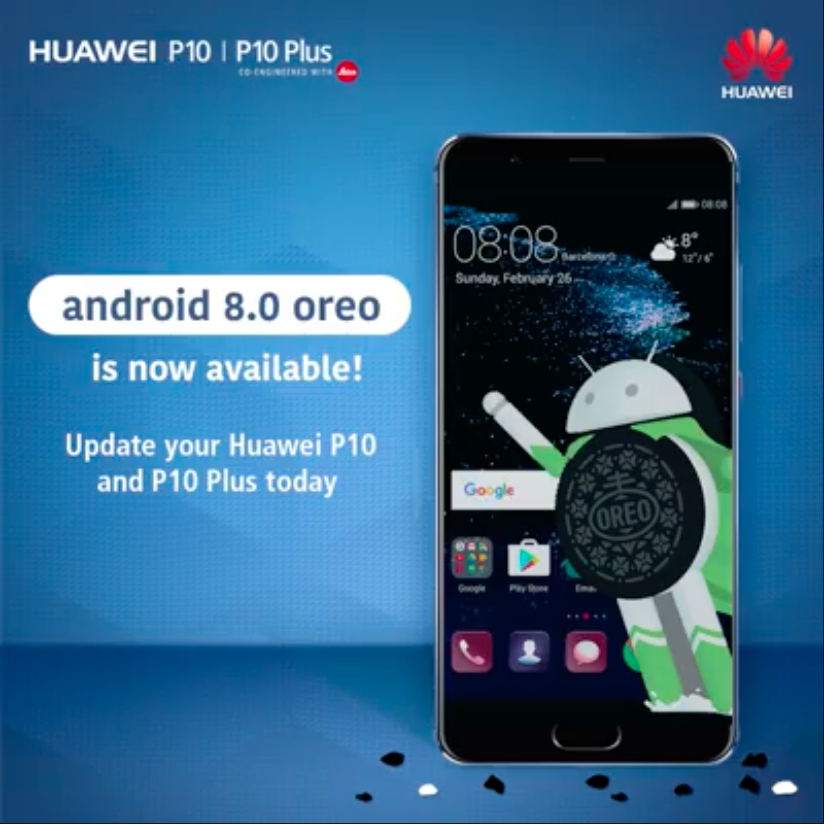 Смартфоны Huawei P10 и P10 Plus начали обновляться до Android 8.0 Oreo