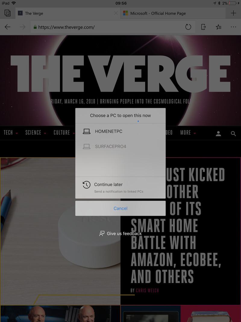 Бета-версия браузера Microsoft Edge доступна для iPad