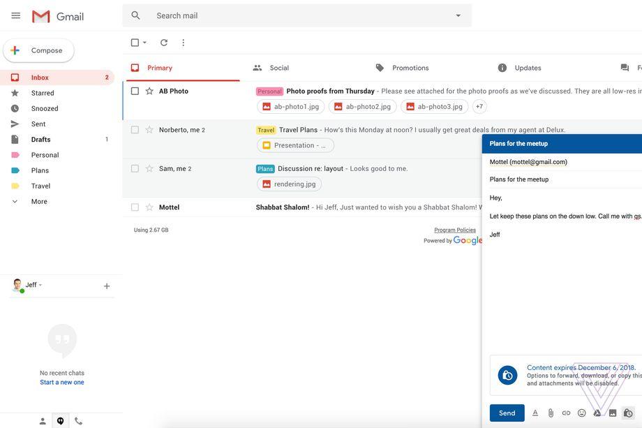 В Gmail появятся самоуничтожающиеся письма