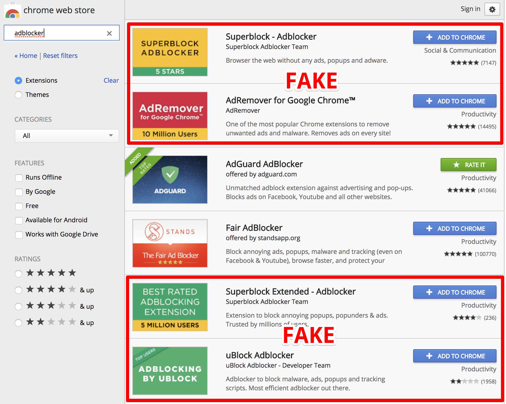 Цифра дня: Сколько пользователей Chrome пострадало от фальшивых блокировщиков рекламы?