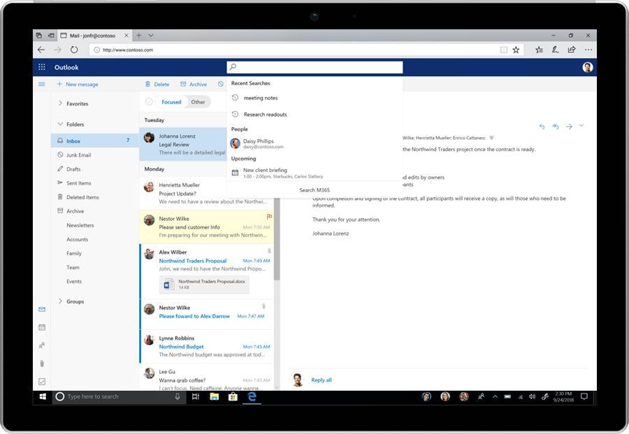 Microsoft анонсировала новый дизайн Office