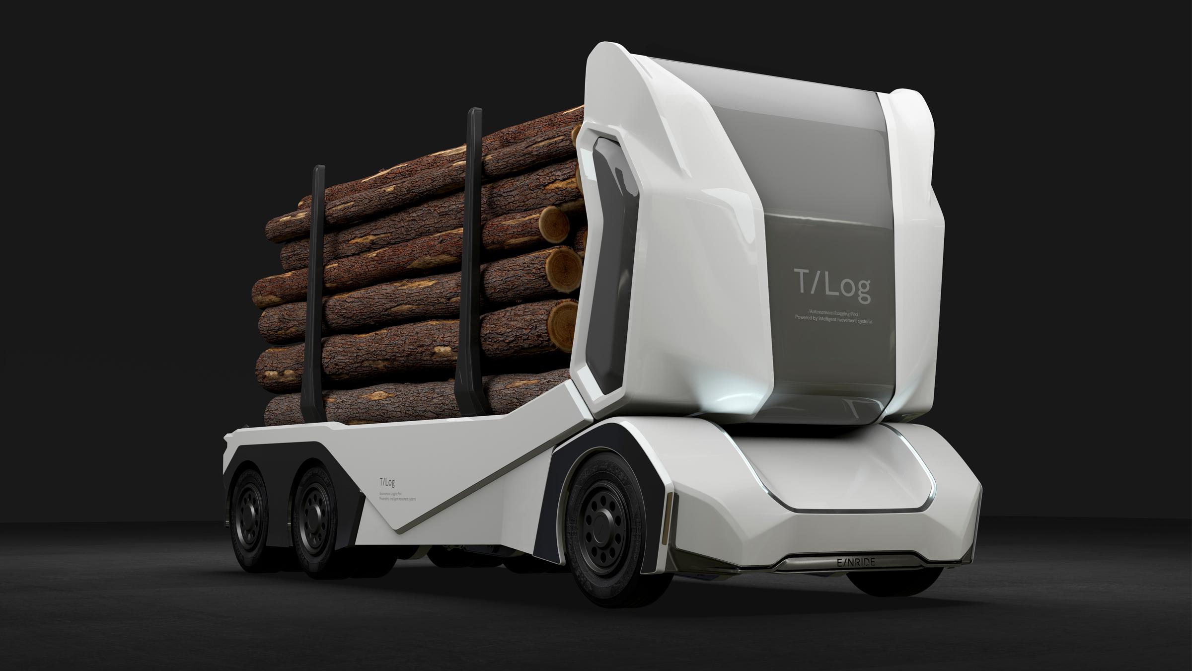 Беспилотный электро-лесовоз способен увезти 16 тонн по бездорожью