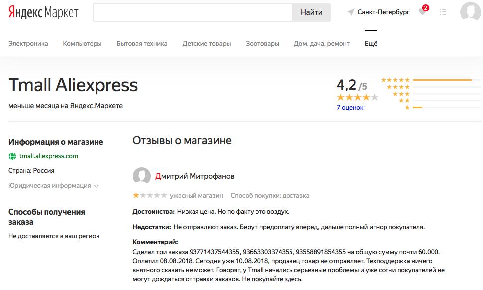 AliExpess теперь продаёт товары на Яндекс.Маркете