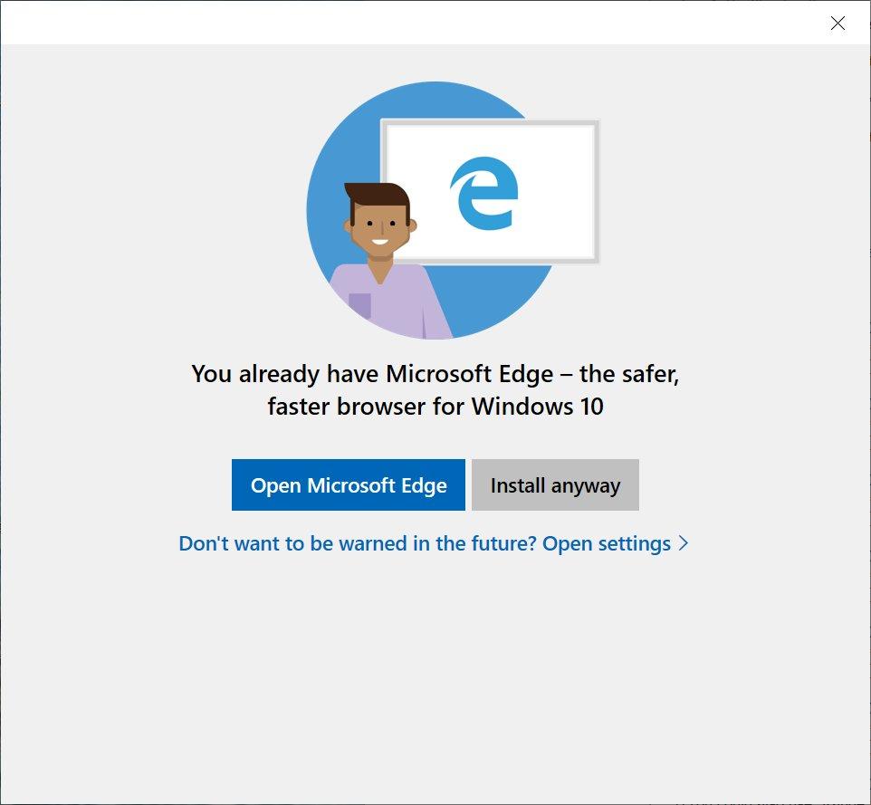 Microsoft мешает ставить в Windows 10 браузеры Chrome и Firefox