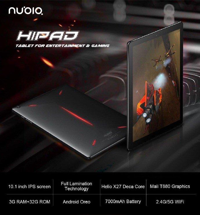 ZTE готовит новый игровой планшет Nubia Hipad