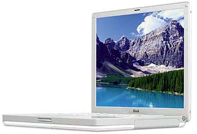 Apple �������� iBook, ���������� � ������ � ��� 2002 �� ������ 2003 ����