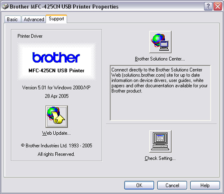BROTHER MFC-425CN PRINTER USB DRIVERS FOR WINDOWS