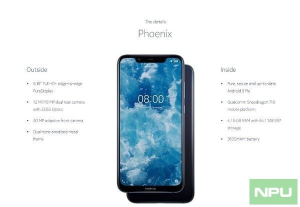 Под именем Nokia 8.1 выйдет переименованный смартфон для китайского рынка