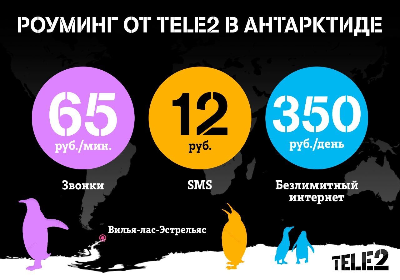 Tele2 запустил безлимитный интернет в Антарктиде