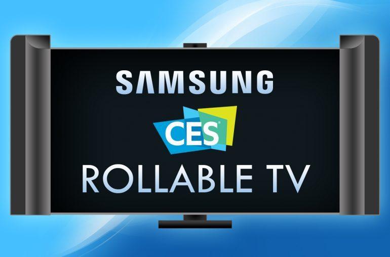 Samsung может представить на CES 2019 сворачивающийся в трубочку телевизор