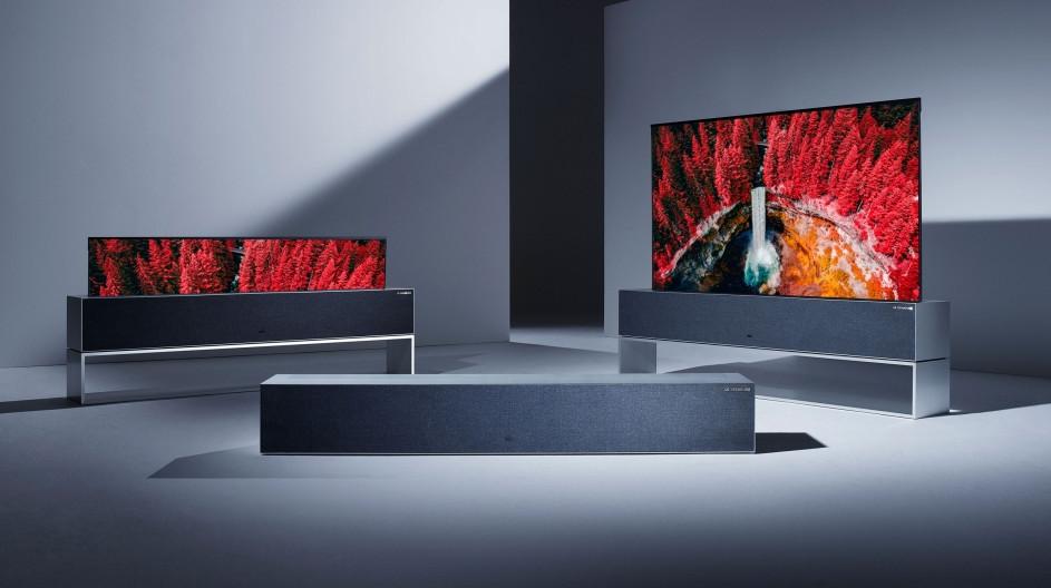 LG представила первый в мире сворачивающийся в рулон телевизор