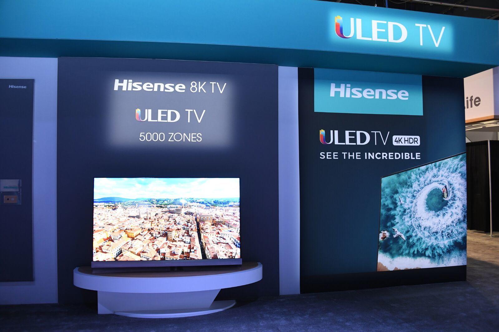 hisense показала ces 2019 новые uled-телевизоры ультратонкий sonic