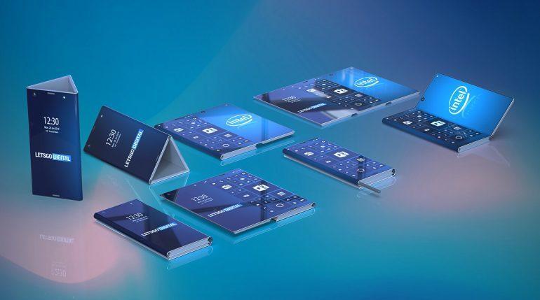 Раскрыта внешность гибкого смартфона Intel