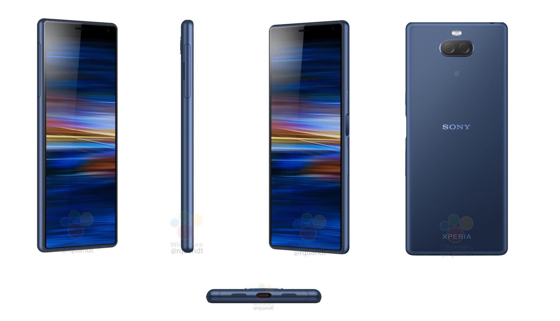 Смартфон среднего класса Sony Xperia XA3 будет безрамочным до нижней грани дисплея