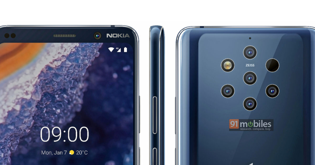 Пятикамерный флагман Nokia 9 PureView показался на официальном изображении