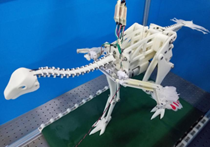 Робот-динозавр показал, как первые птицы научились летать