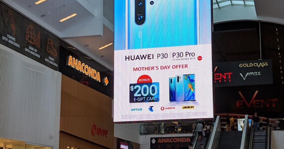 Huawei воюет с Samsung в торговых центрах