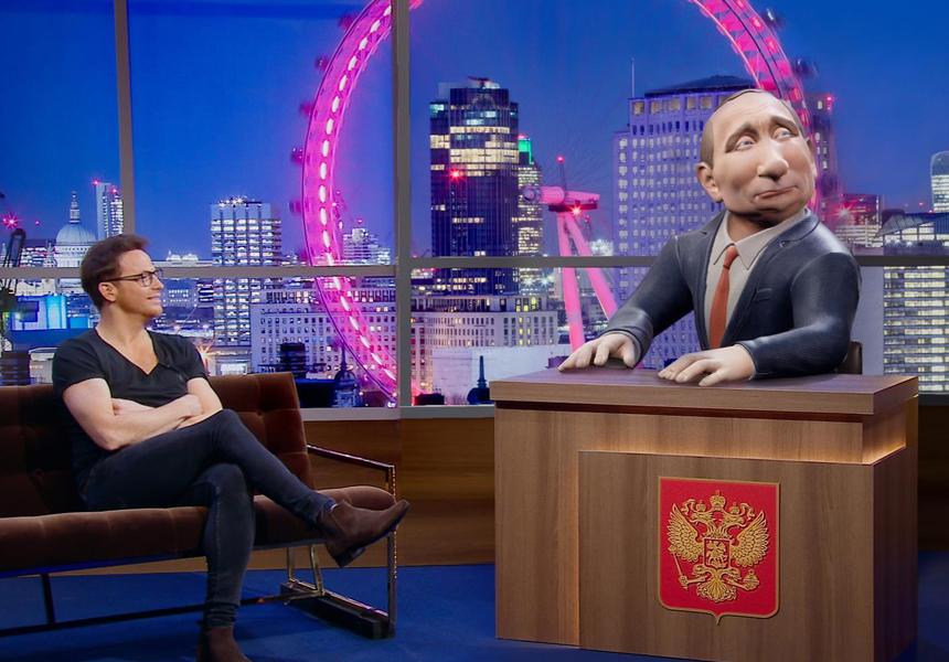 британцы сняли ток-шоу 3d-путиным