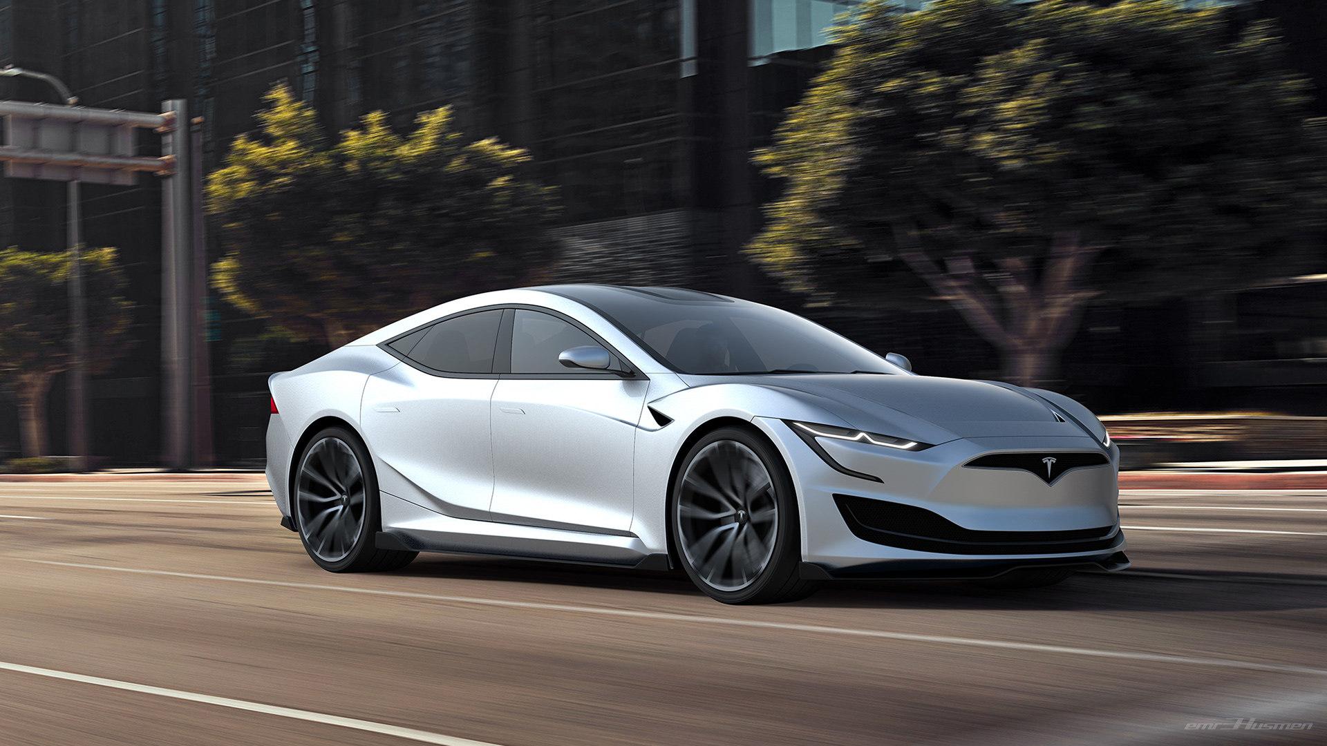 семейная tesla 2020 модельного оказалась быстрее гоночного электромобиля