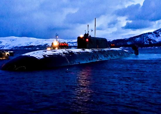 Российские атомные подлодки провели дуэль