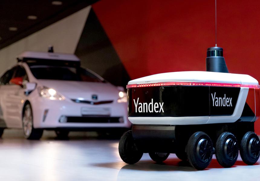 Роботы Яндекса начали доставлять товары сотрудникам компании