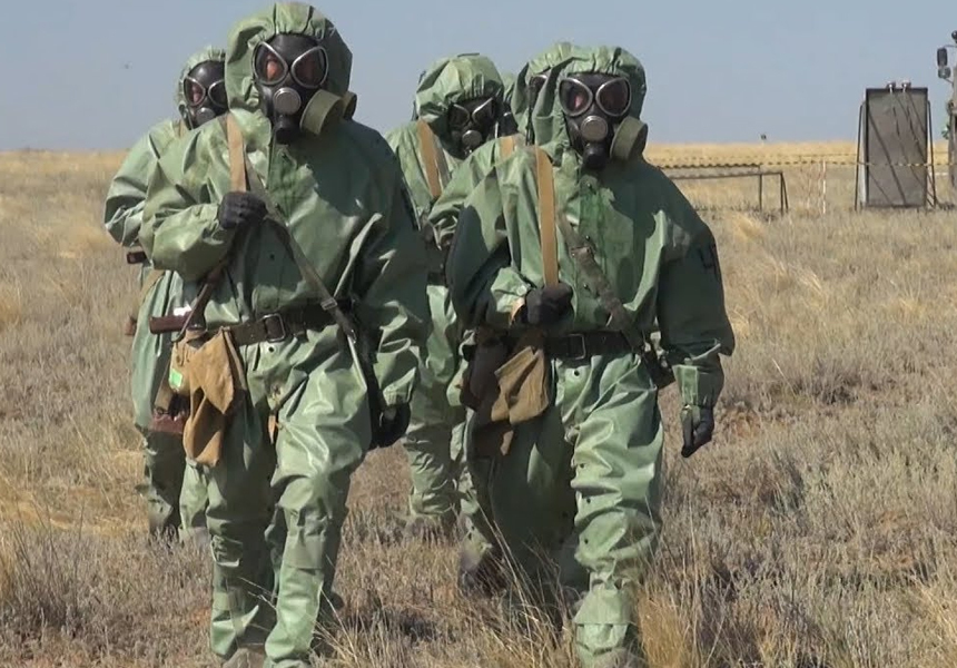 Российские военные провели учения по борьбе с коронавирусной инфекцией