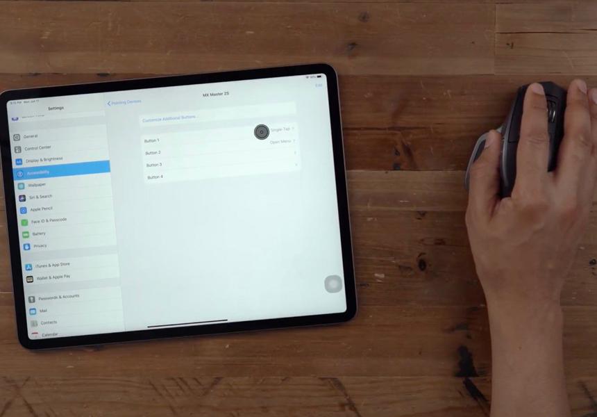 Apple ввела полную поддержку мыши для своих планшетов