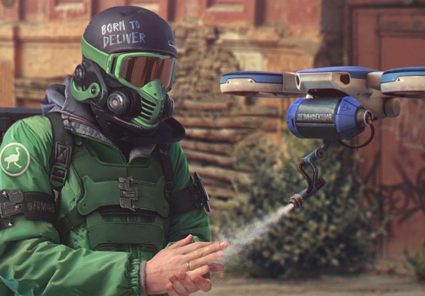 Россию будущего при пандемии нарисовали в стиле игры Death Stranding