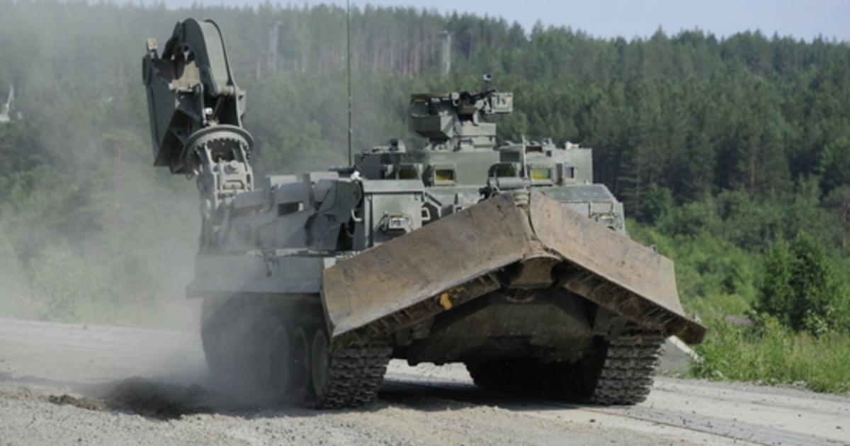 В России завершились испытания универсальной бронированной инженерной машины