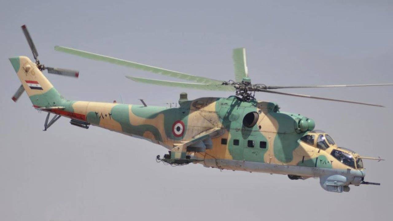Показан экстремальный полёт ударного вертолёта Ми-25