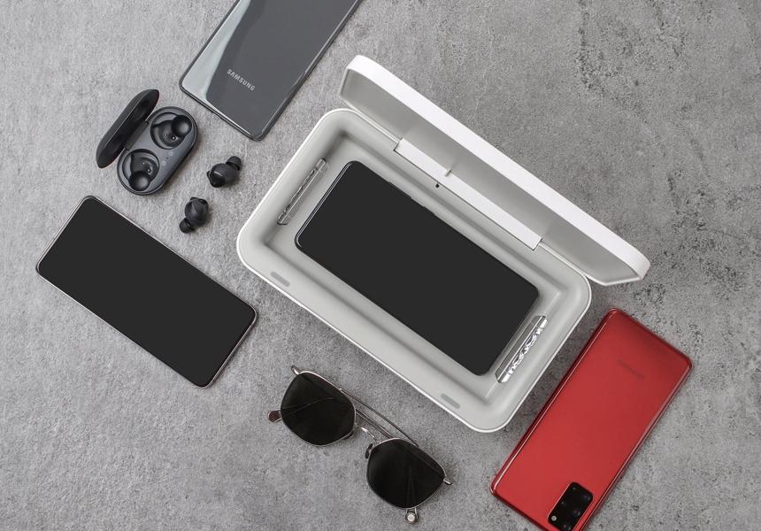 Samsung создала устройство для дезинфекции и подзарядки смартфонов одновременно