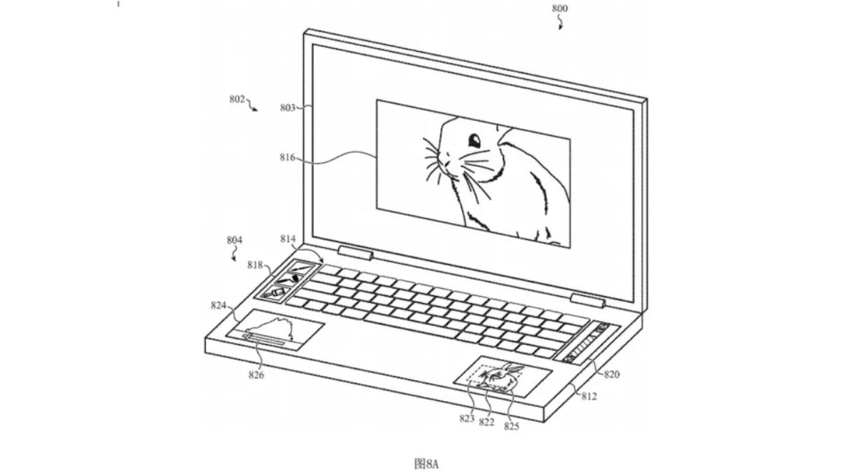 Apple запатентовала ноутбук сразу с пятью экранами
