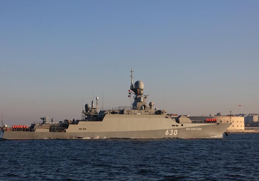 Корабли Черноморского флота провели артиллерийскую дуэль