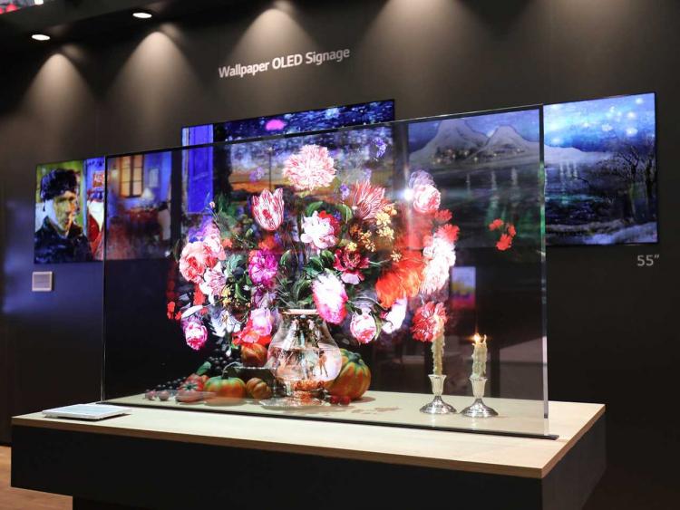 LG показала прозрачные экраны нового поколения