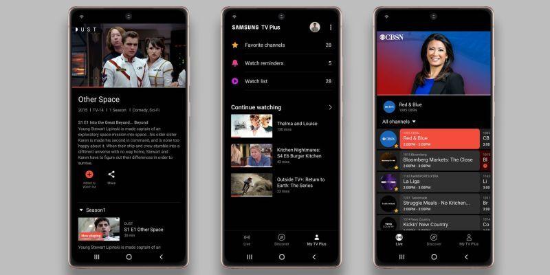 Samsung объявила смартфоны, которые получат бесплатный потоковый сервис TV Plus