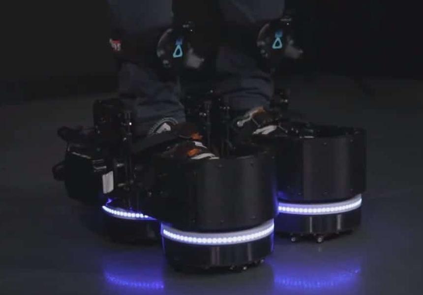 создана обувь ходьбы виртуальной реальности