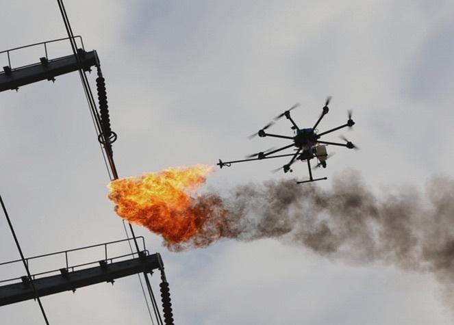 В России началась разработка вооруженного огнеметом дрона