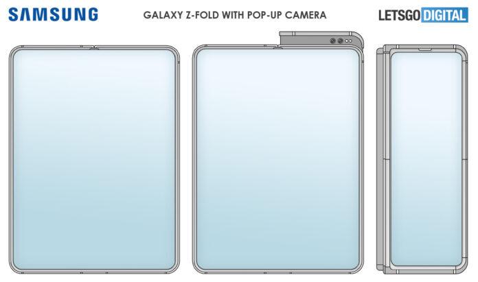 Samsung запатентовала гибкий смартфон с выдвижной камерой