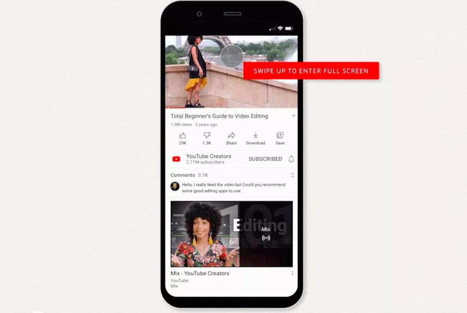 Мобильное приложение YouTube получило новые жесты управления
