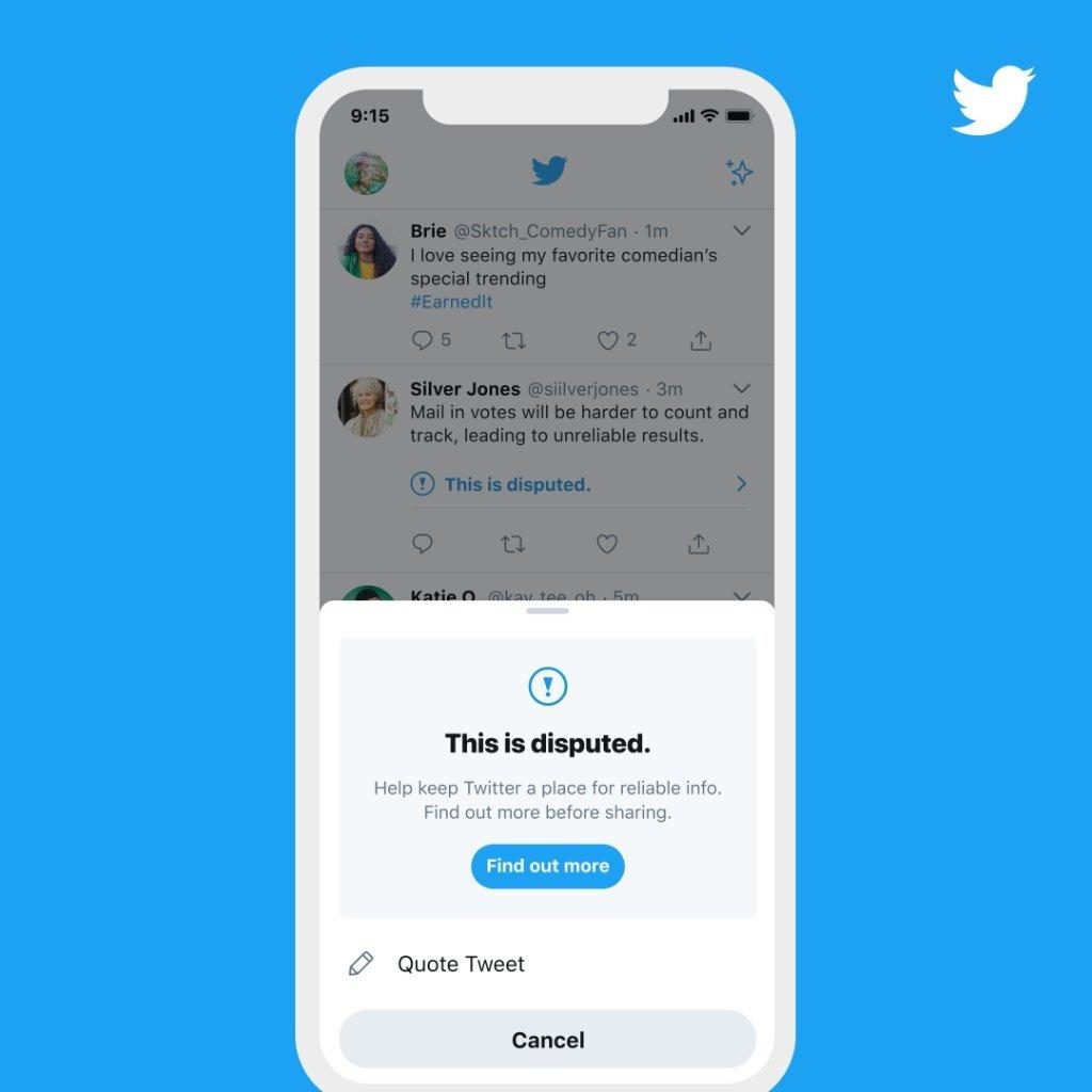 Twitter начал удерживать пользователей от лайков «спорных» сообщений