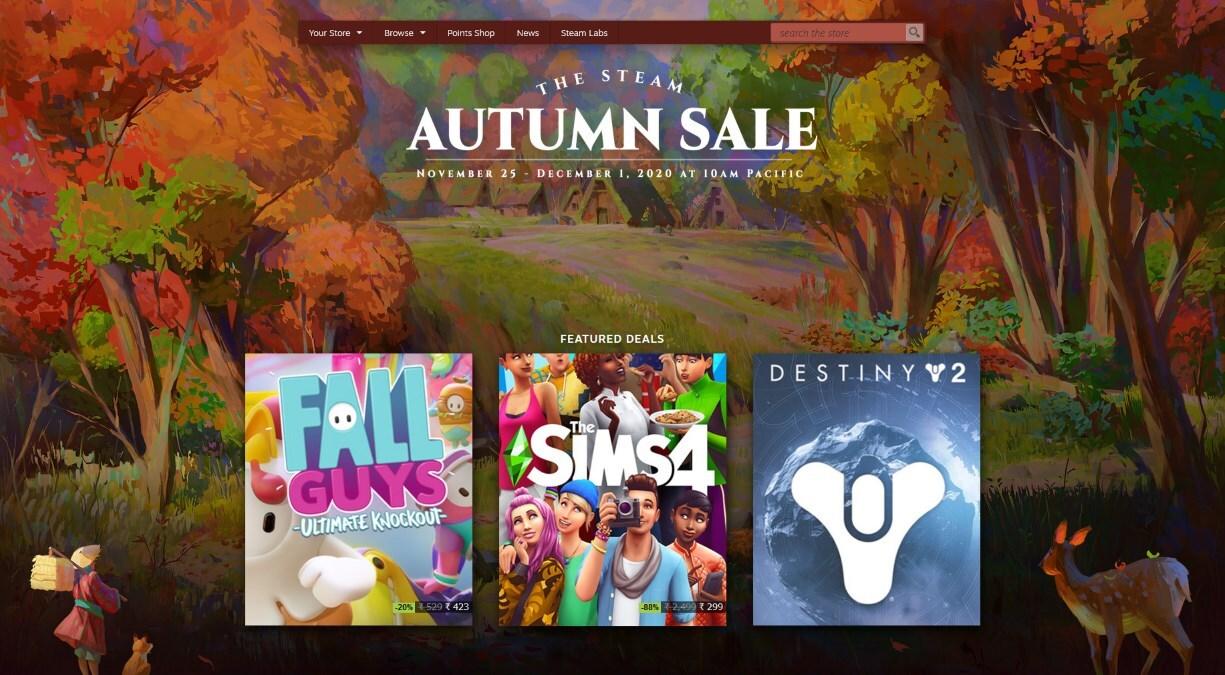 Осенняя распродажа Steam установила новые рекорды