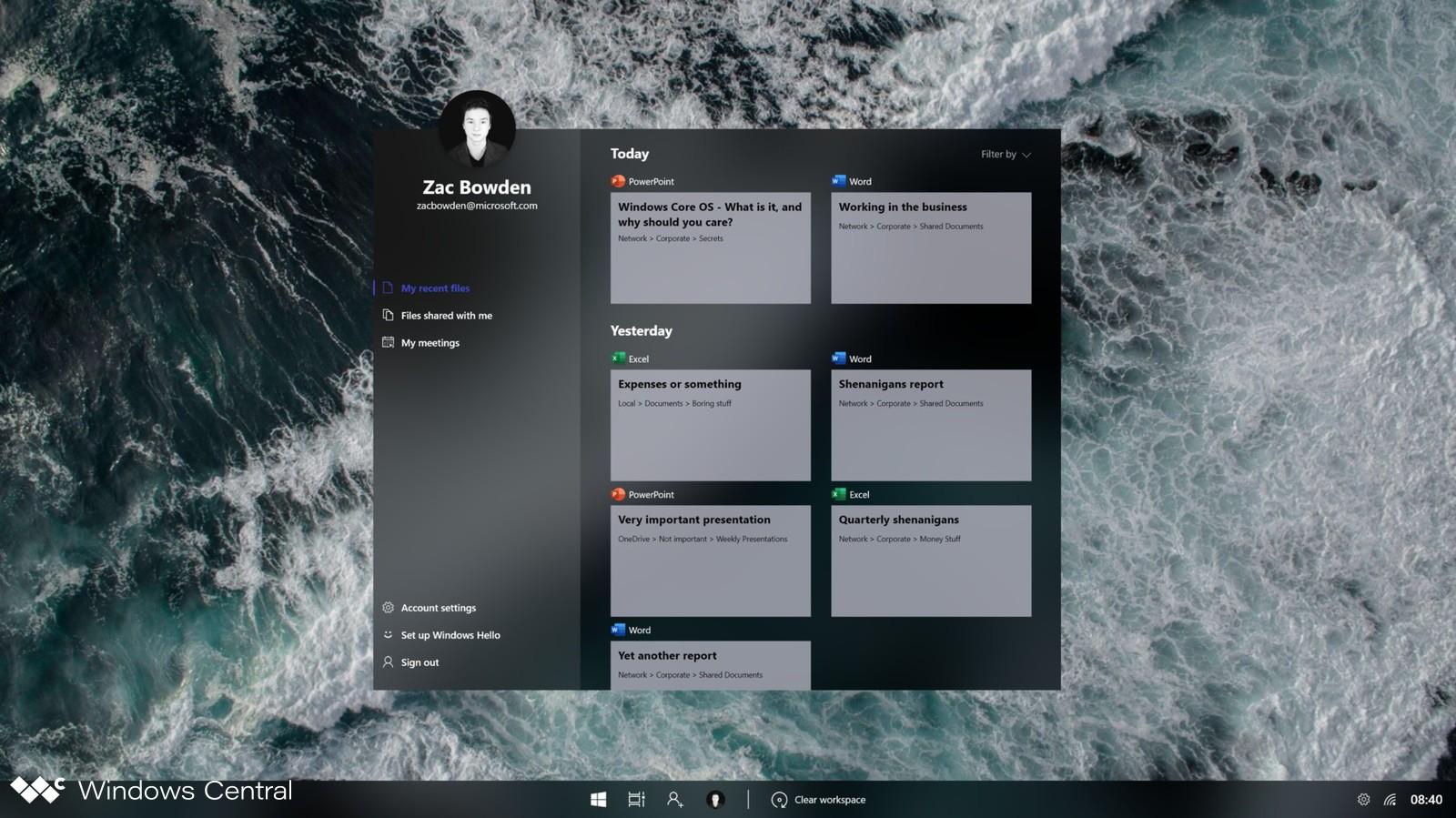 В сеть утекла невыпущенная операционная система Windows Core