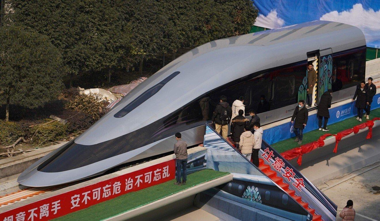 Разработан прототип поезда, скорость которого достигает 620 км/ч