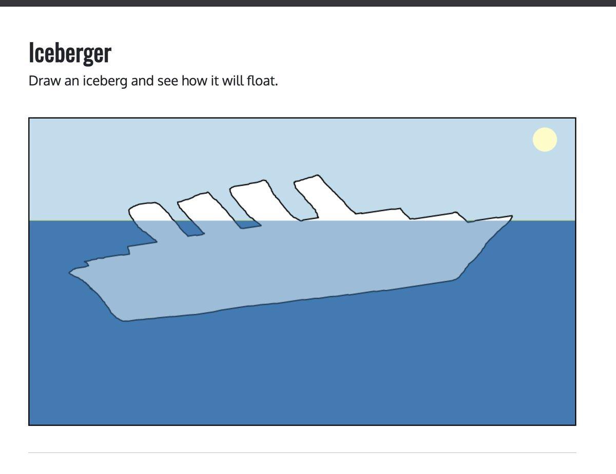 Новый сайт покажет, как на самом деле будет плыть айсберг любой формы