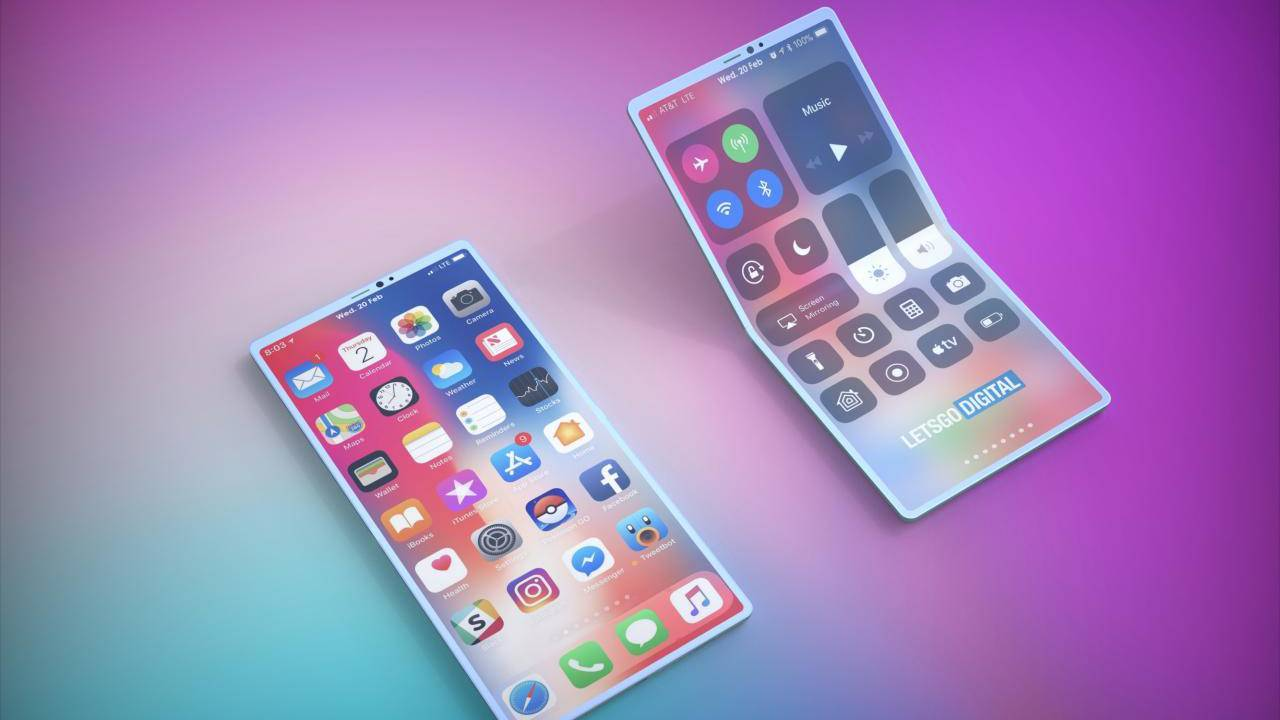 iPhone со складным экраном станет заменой компактного планшета iPad
