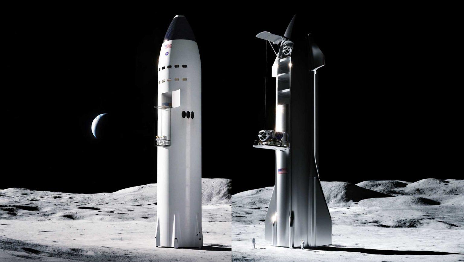 Илон Маск показал космический лифт для спуска на поверхность Луны