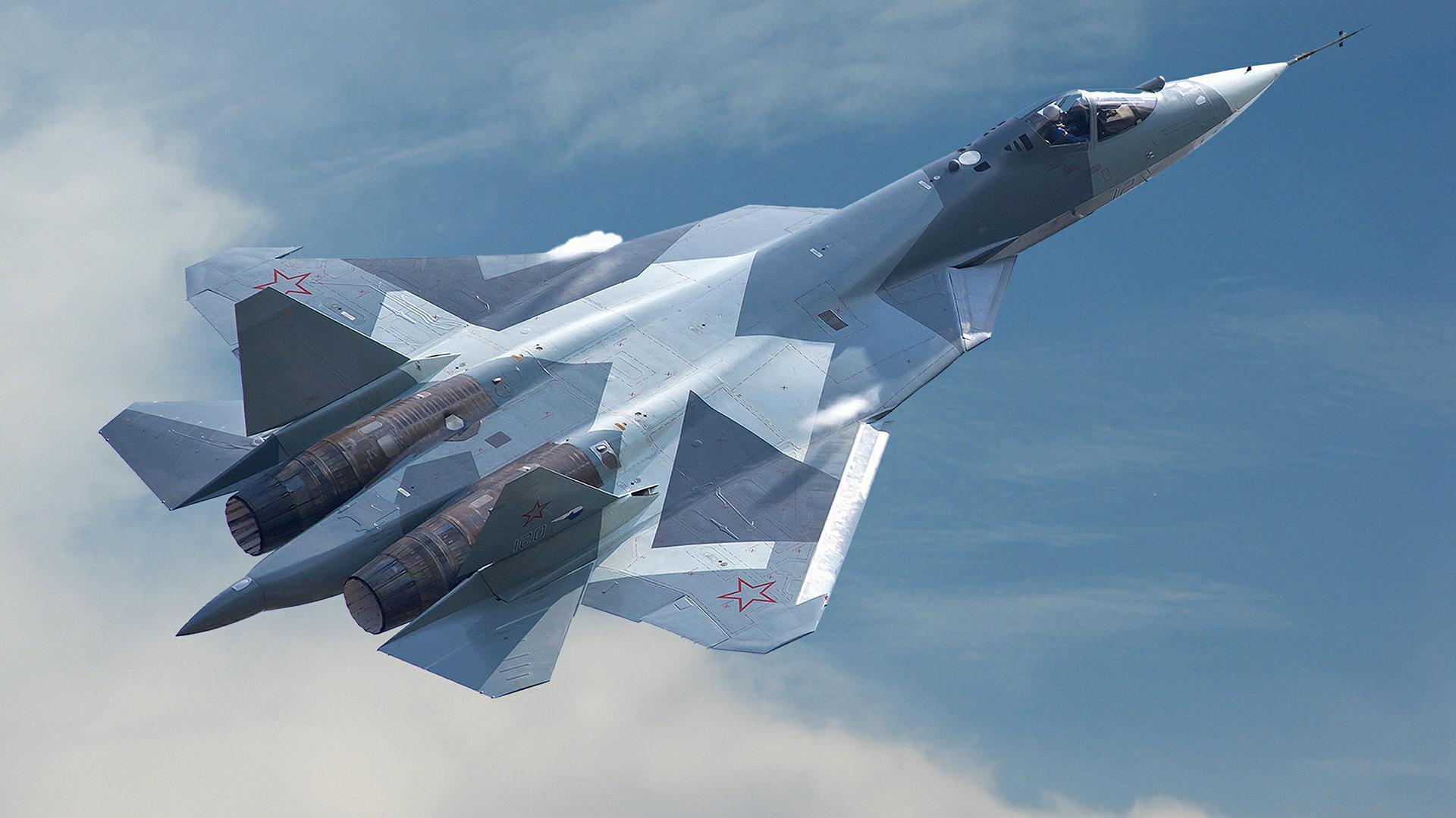 На видео показали испытания бортовой пушки истребителя Су-57