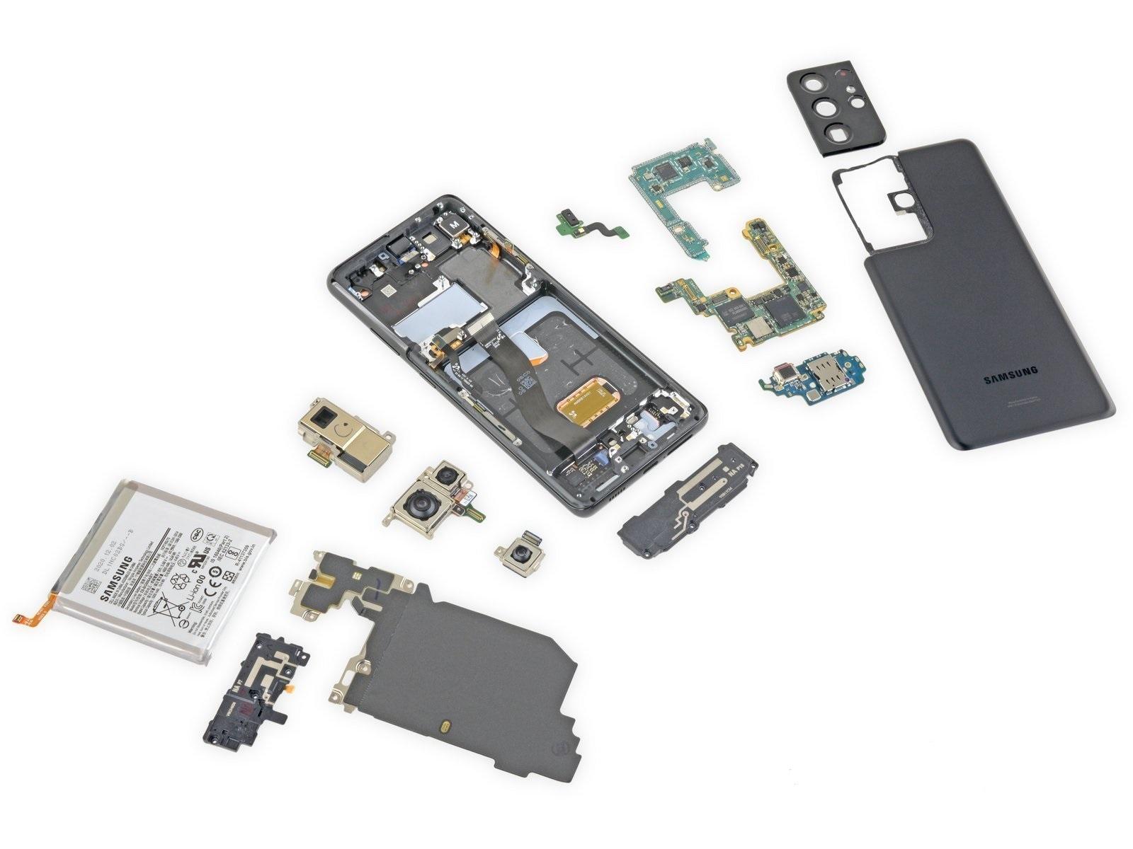 Эксперты выяснили ремонтопригодность флагманского Samsung Galaxy S21 Ultra